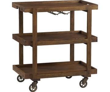Crate & Barrel Collins Bar Cart