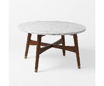 west elm reeve midcentury round coffee table