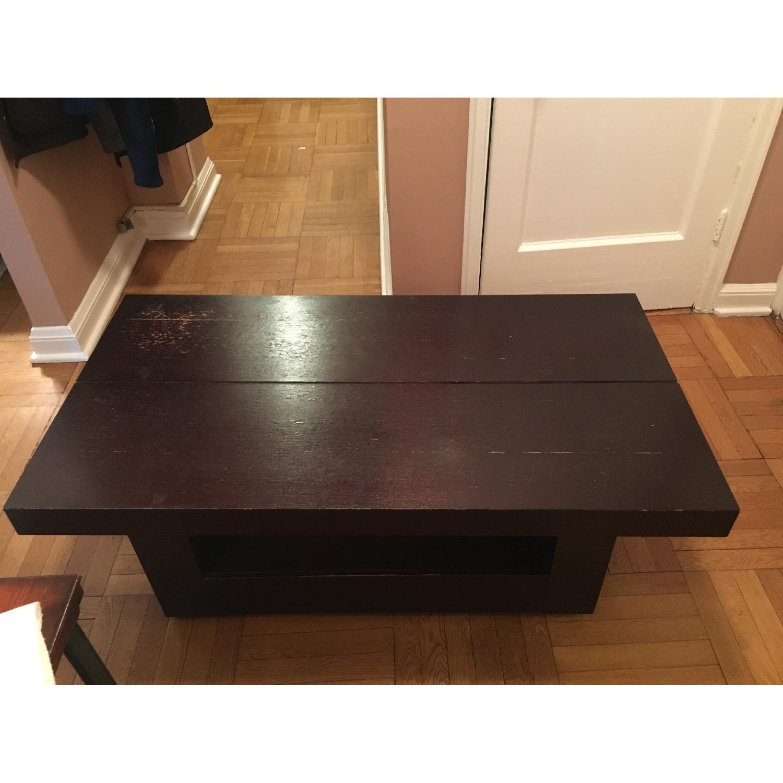 Macy s Dark Brown Side Table AptDeco