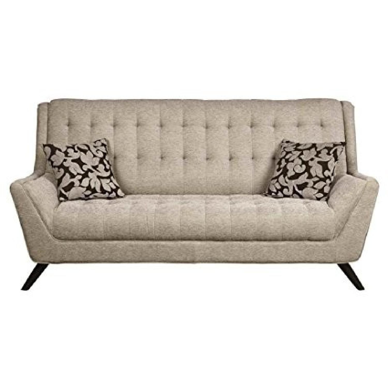 Light Grey Chenille Fabric Sofa
