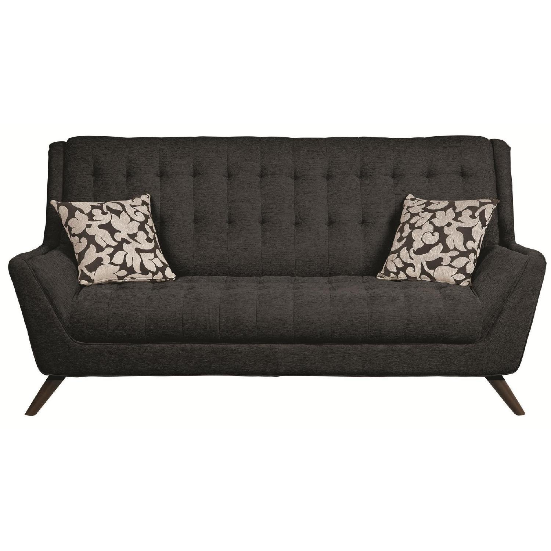 Black Chenille Fabric Sofa ...