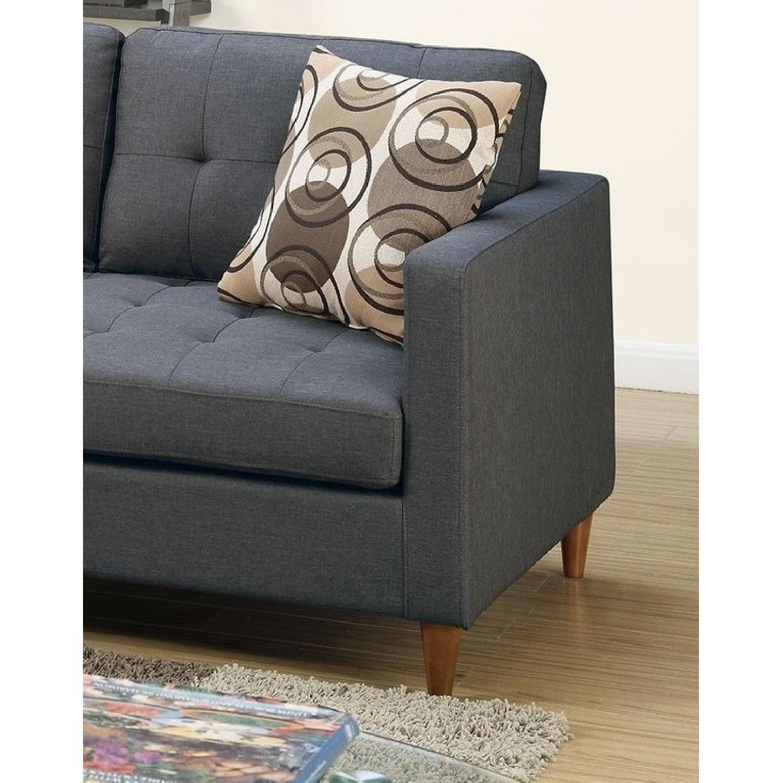Grey Linen 2 Piece Reversible Sectional Sofa Aptdeco ~ Reversible Sectional Sofa