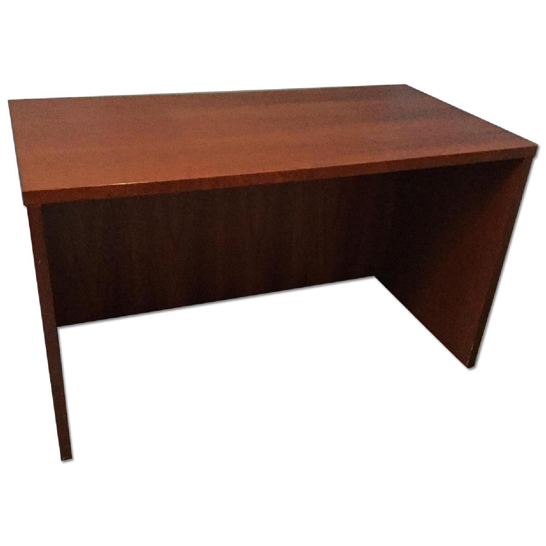 Ethan Allen Solid Cherry Desk Aptdeco