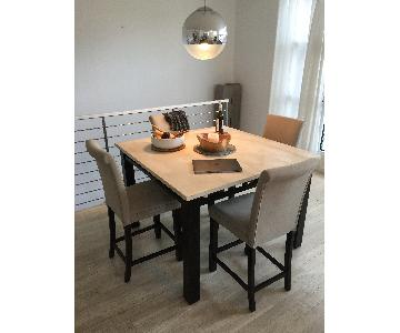 Counter Height Stone Top Table