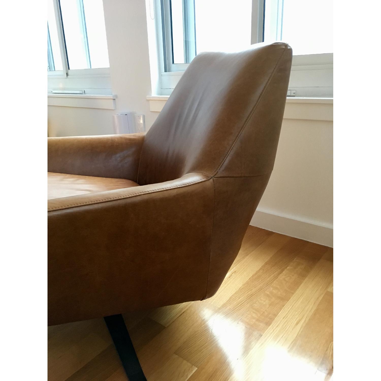 West Elm Lucas Leather Swivel Base Chair-3