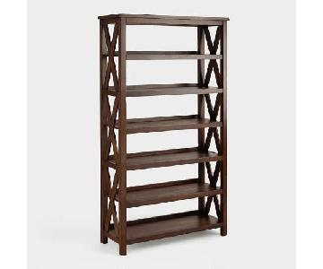 World Market Solid Wood Bookshelf