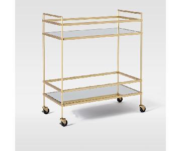 West Elm Mirrored Bar Cart