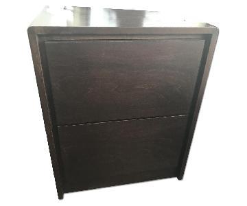 Gothic Cabinet Craft Dark Brown Nightstand