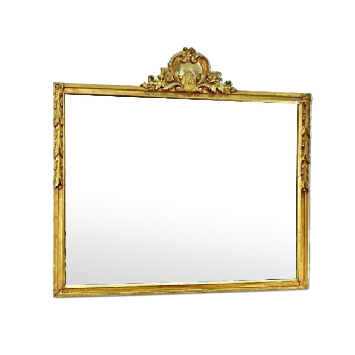 Antique Regency Style Carved Gilt Wood Wall Mirror