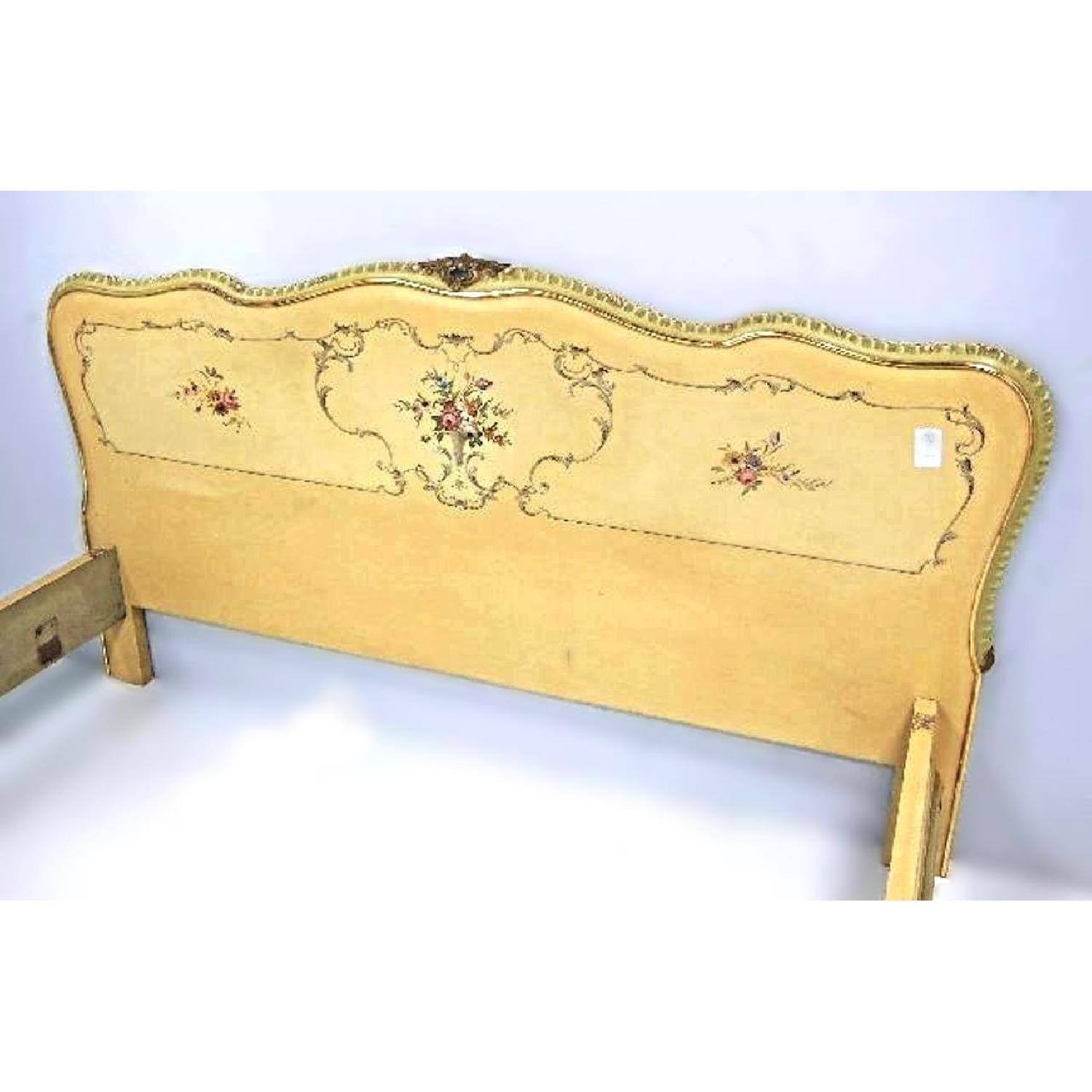 Antique florentine queen king bed frame w headboard aptdeco - Design within reach bed frame ...