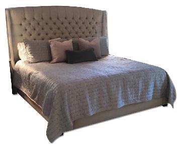 Restoration Hardware Warner Tufted King Bed w/ Headboard