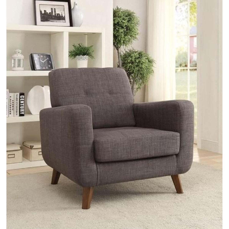 Coaster Fine Furniture Mid Century Modern Grey Accent Chair