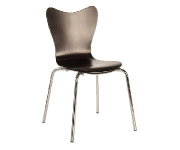 West Elm Scoop-Back Chair in Chocolate