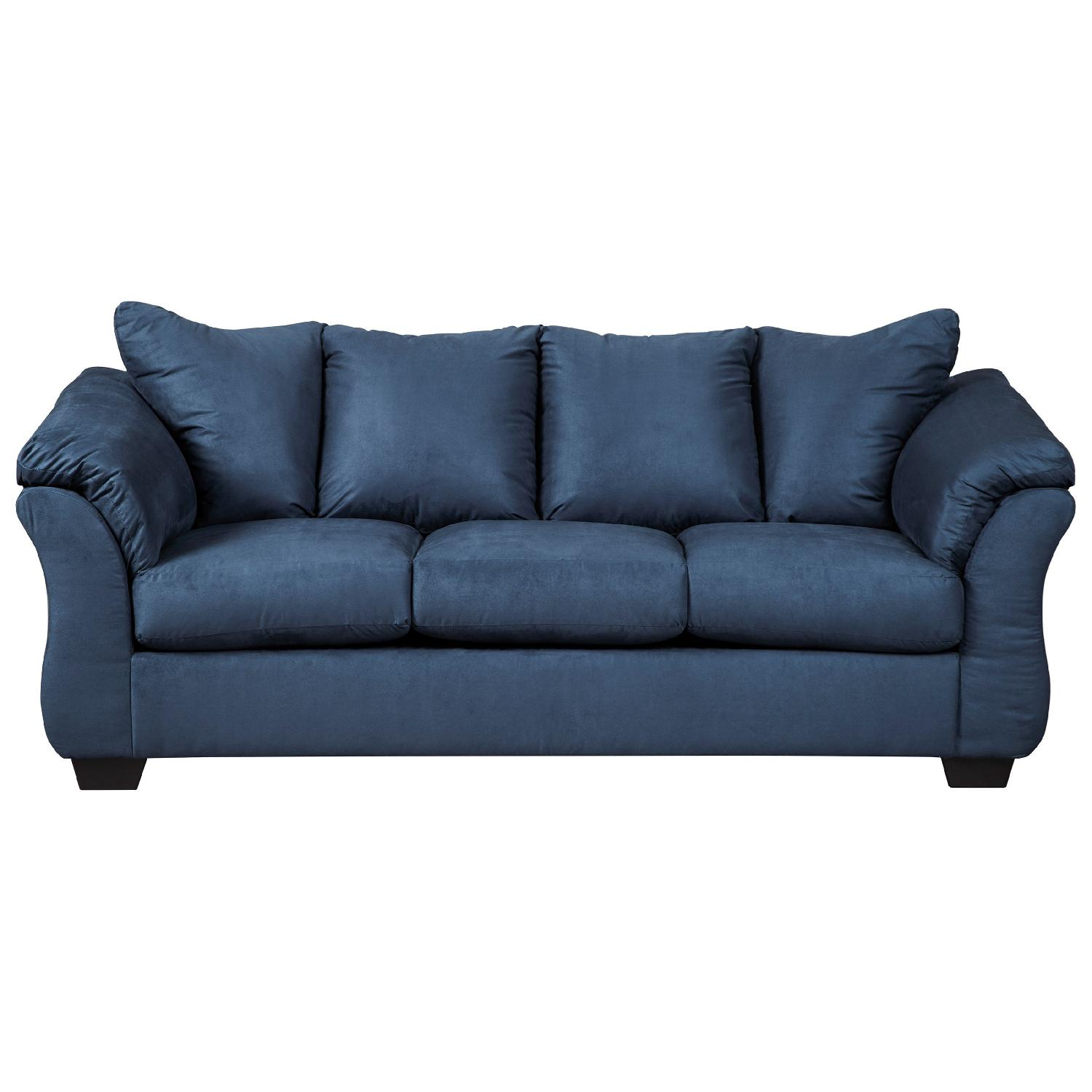 Ashley darcy blue full sofa sleeper aptdeco for Ashley sleeper sofa