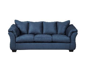 Ashley Darcy Blue Full Sofa Sleeper