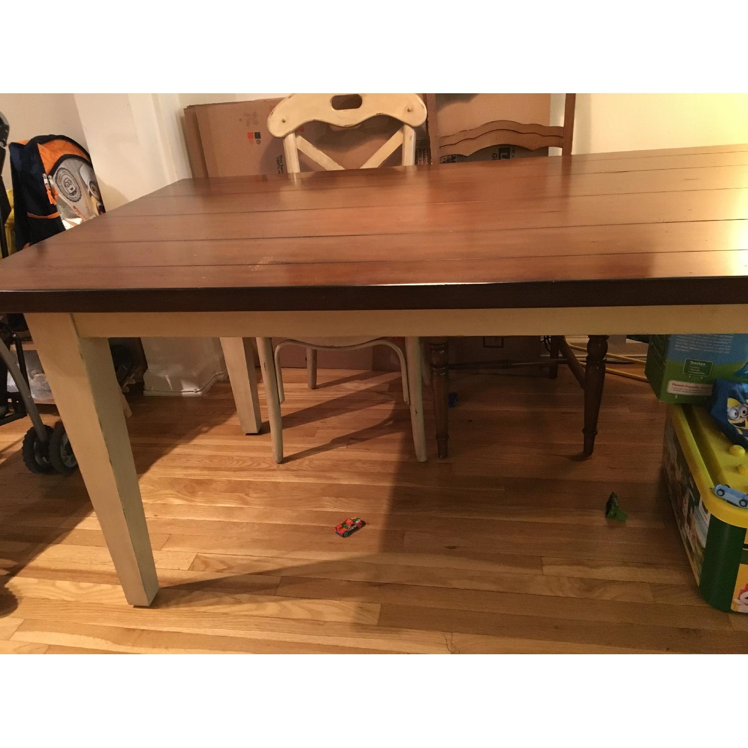Pier 1 Dining Table in Antique Ivory - image-1
