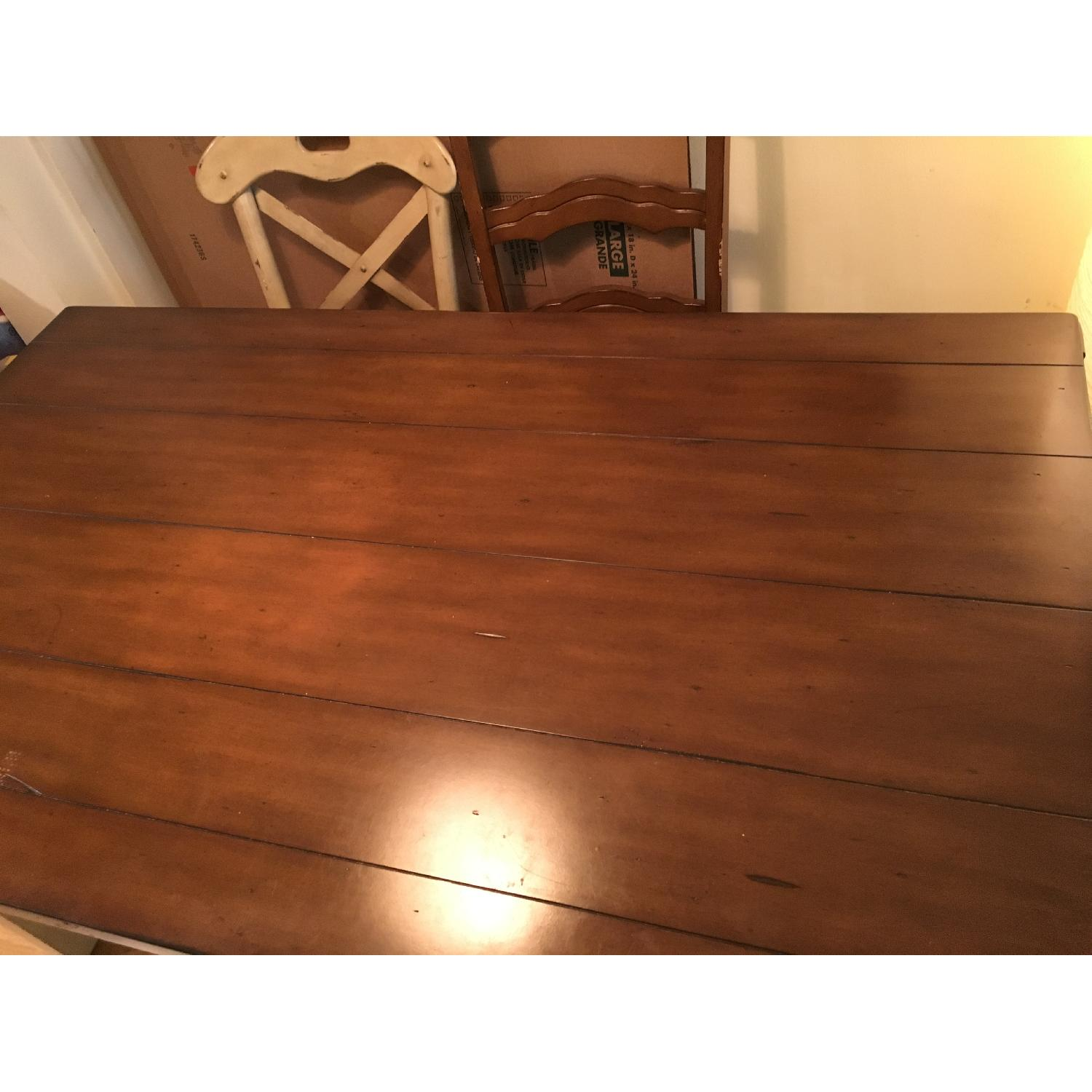 Pier 1 Dining Table in Antique Ivory - image-2