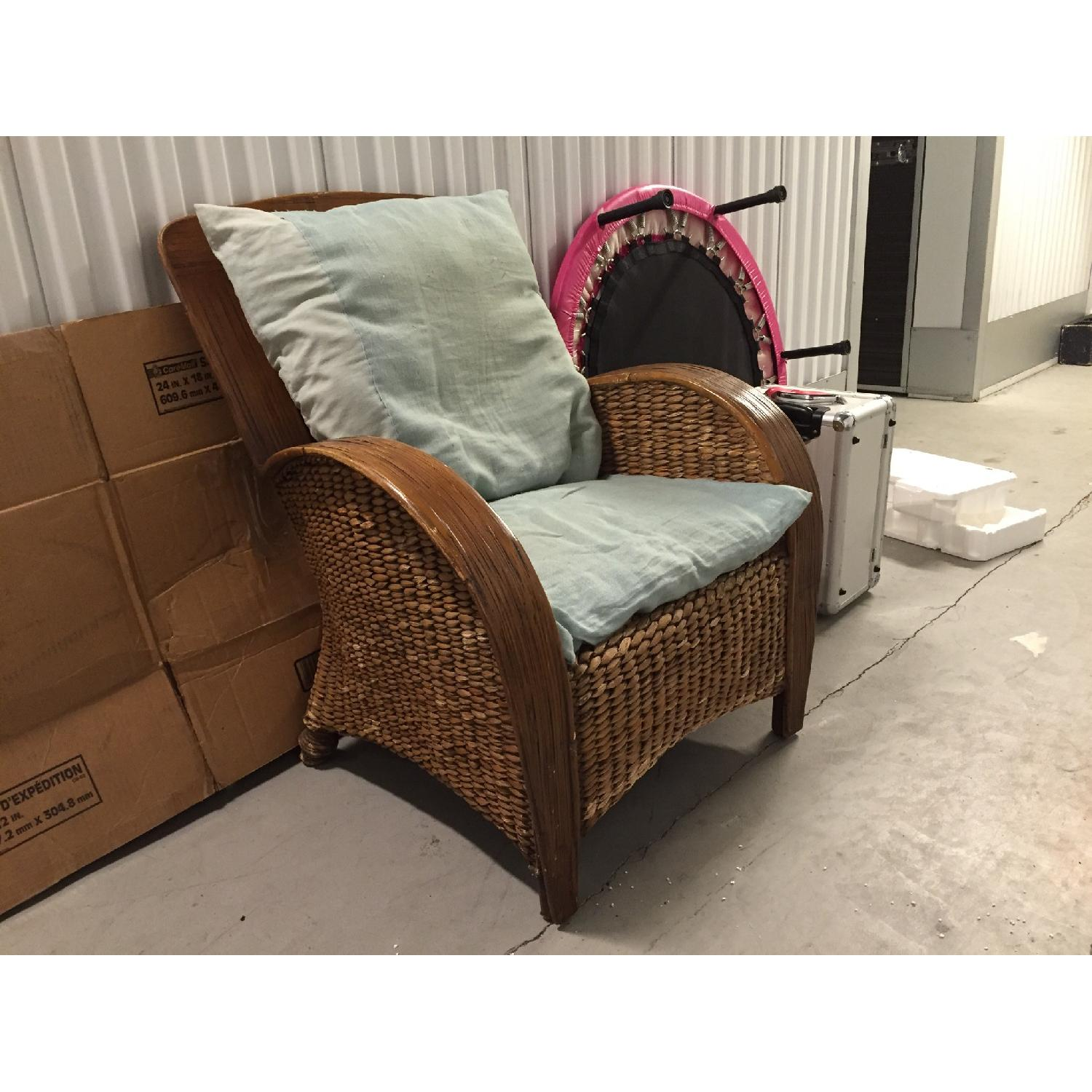 Pier 1 Imports Wicker Chair - image-1