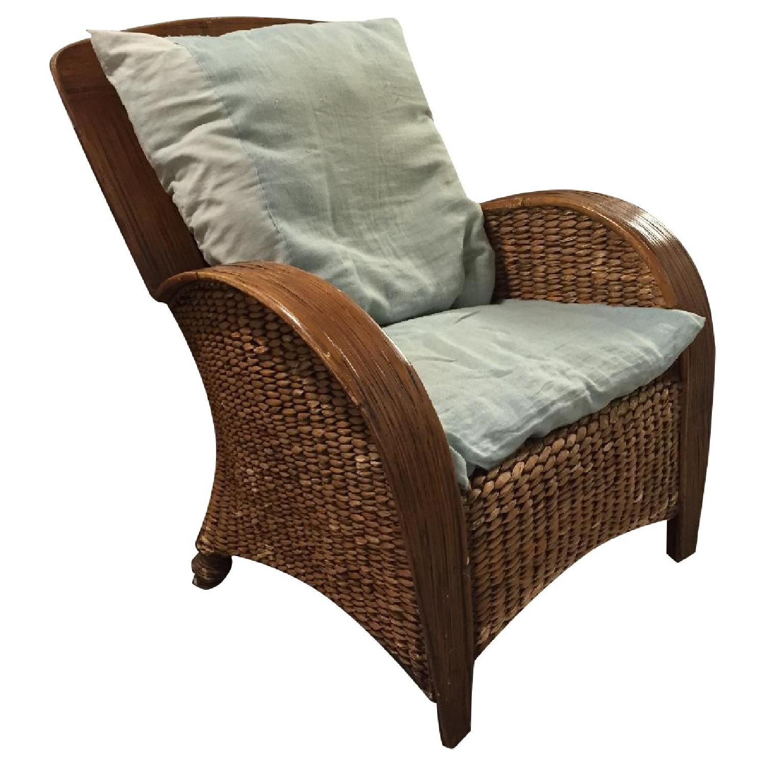 Pier 1 Imports Wicker Chair - image-0