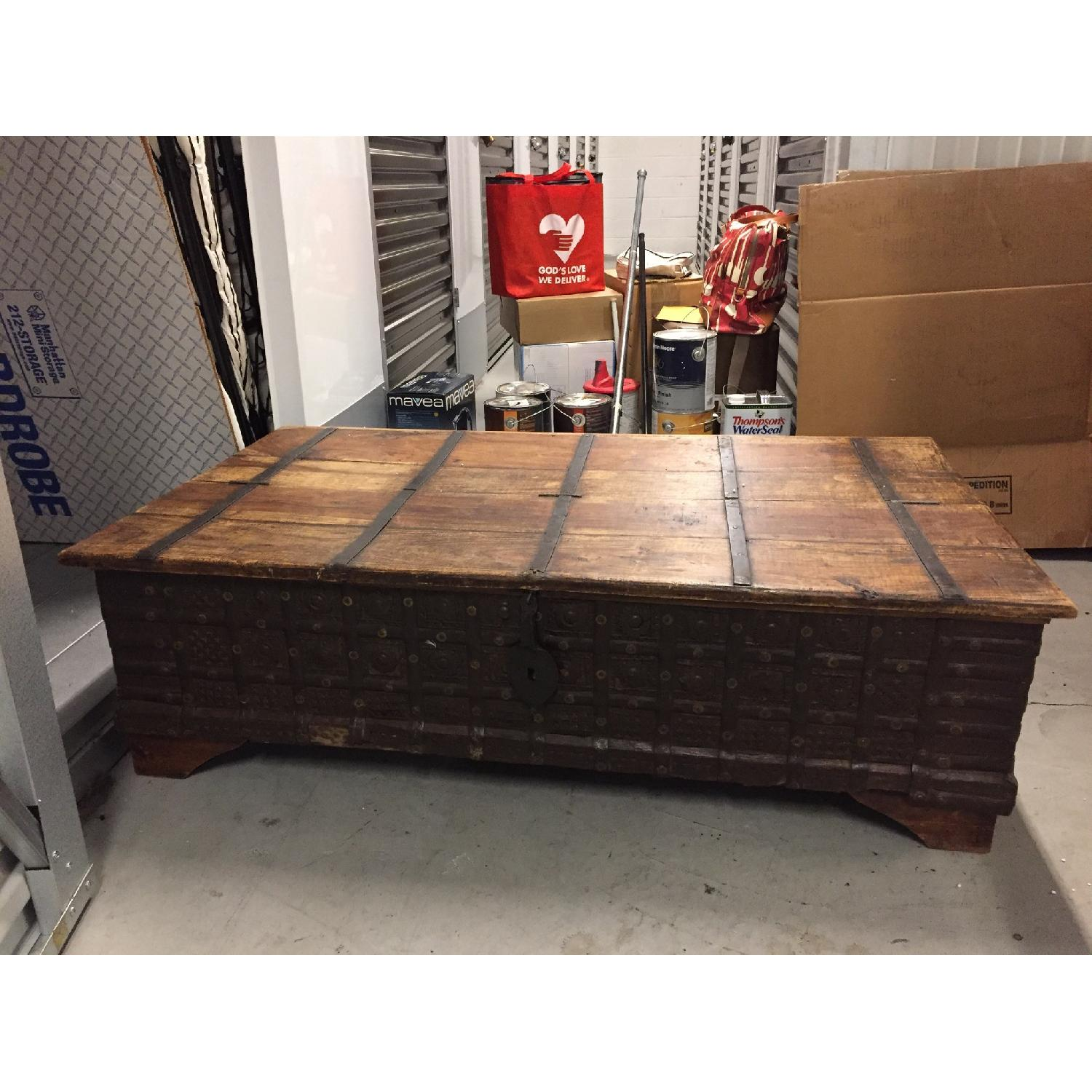 Vintage Import Coffee Table with Storage. - image-1