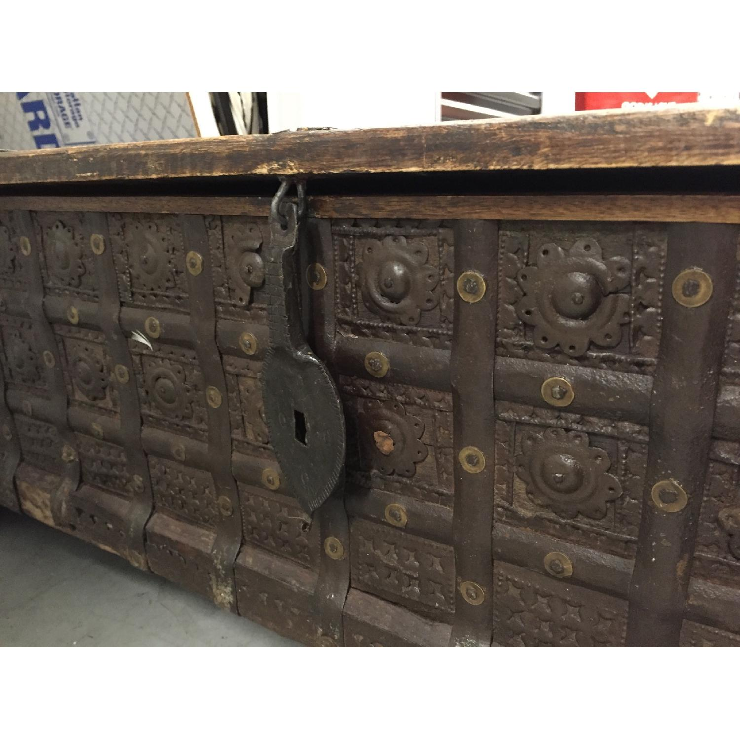 Vintage Import Coffee Table with Storage. - image-2