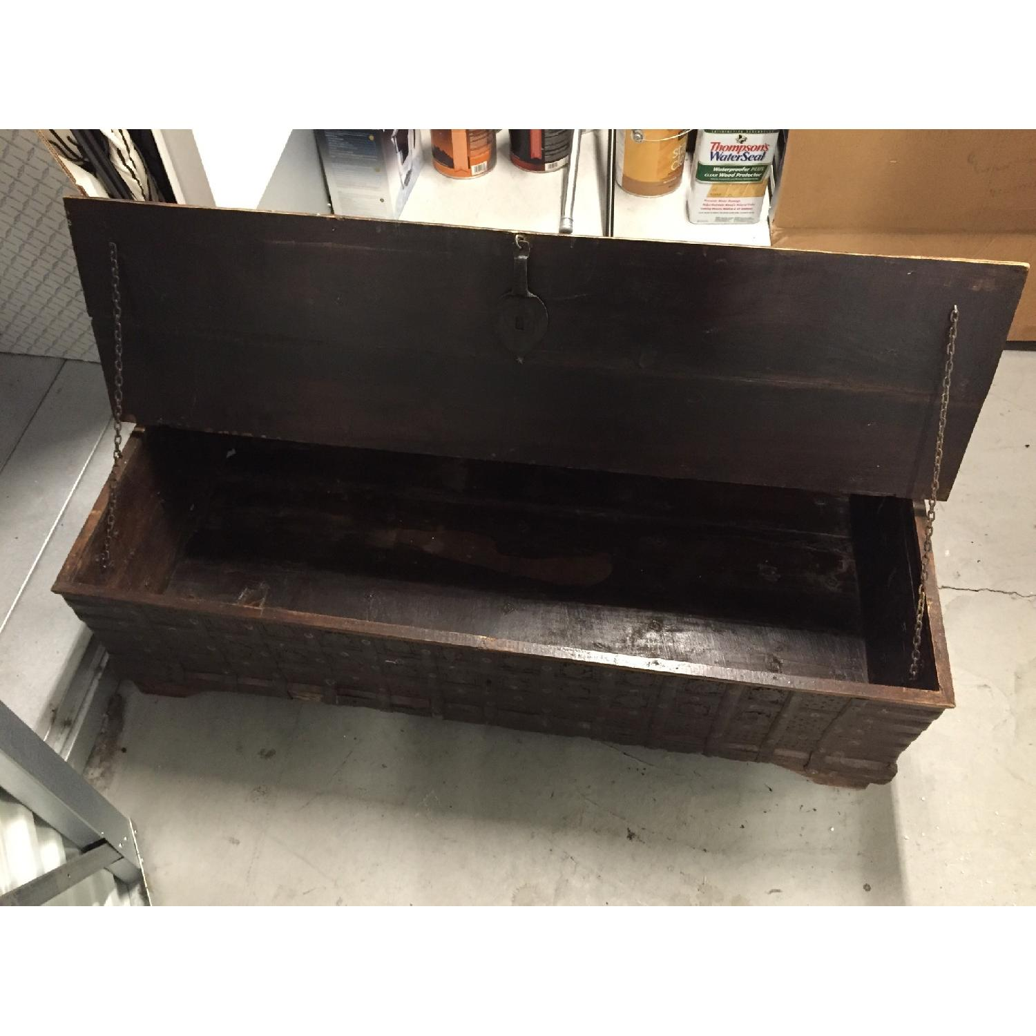 Vintage Import Coffee Table with Storage. - image-3