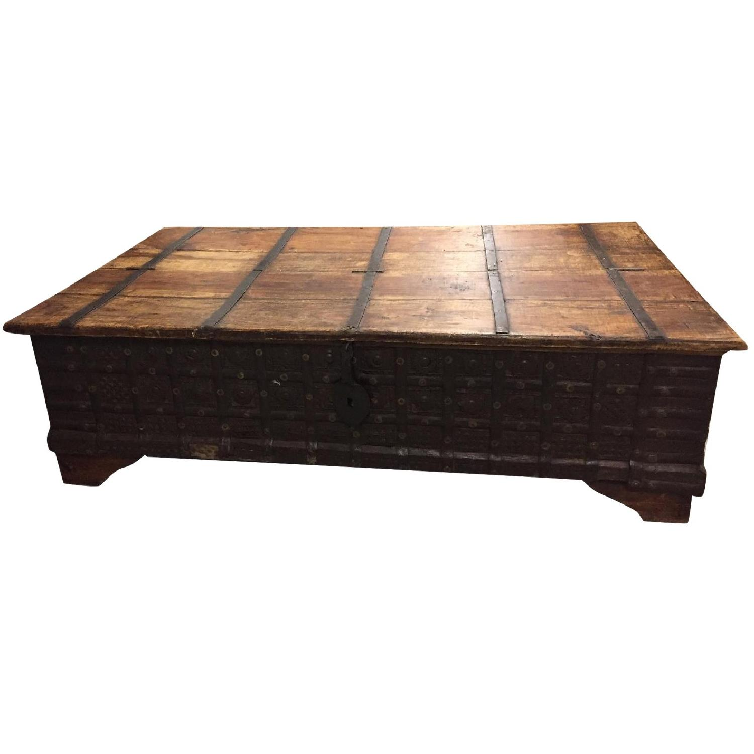 Vintage Import Coffee Table with Storage. - image-0