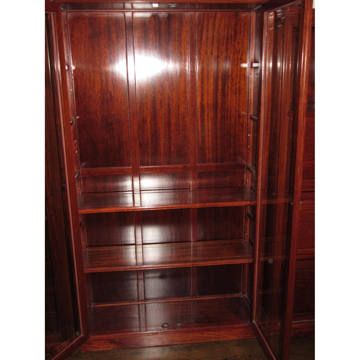 Rosewood Elm Glass Door Cabinets - 2 Available - image-3