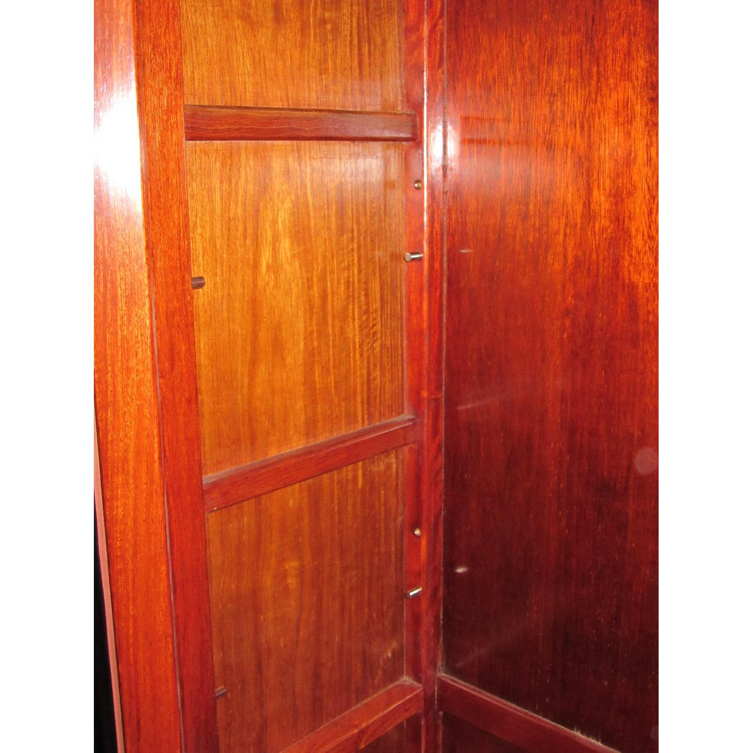 Rosewood Elm Glass Door Cabinets - 2 Available - image-5