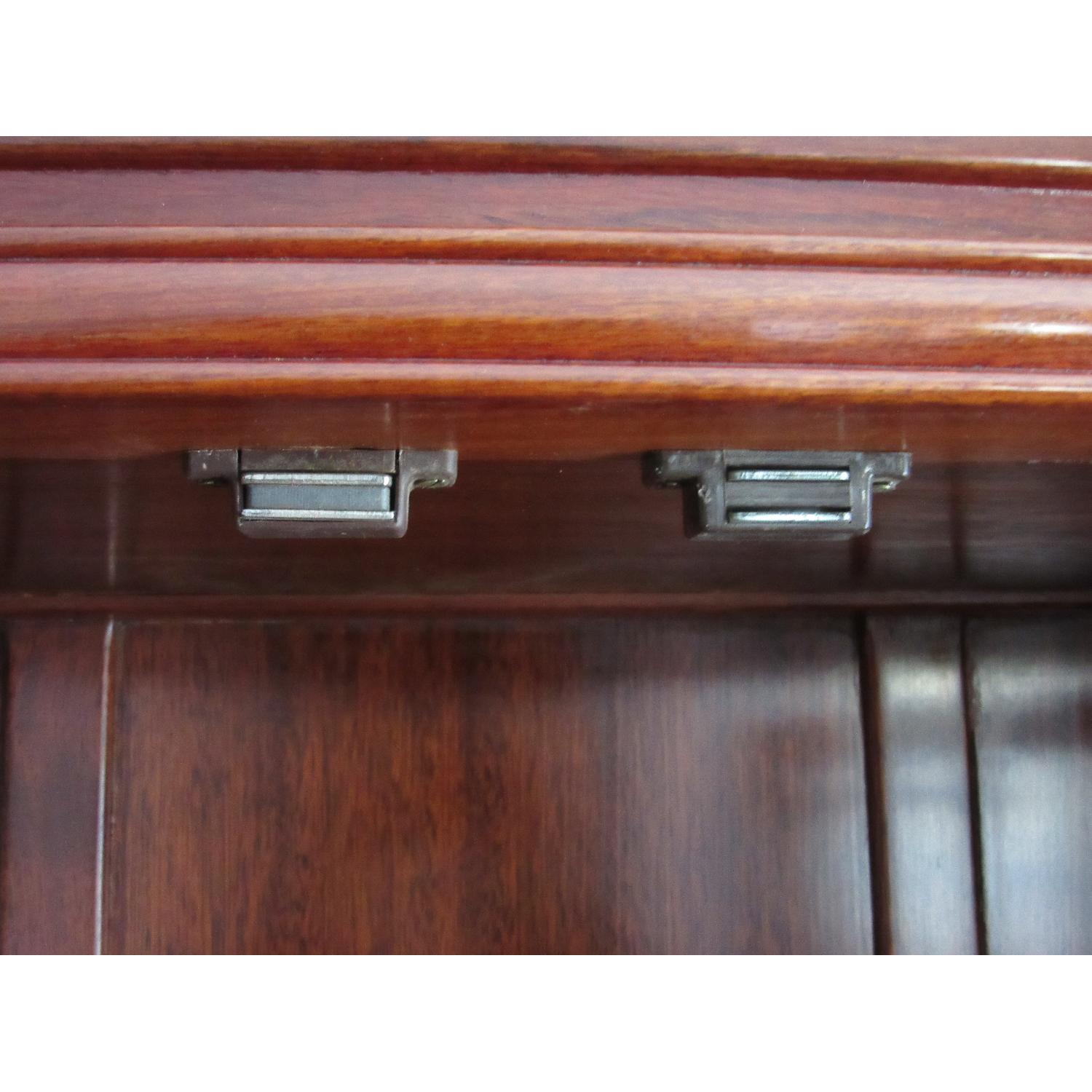 Rosewood Elm Glass Door Cabinets - 2 Available - image-7