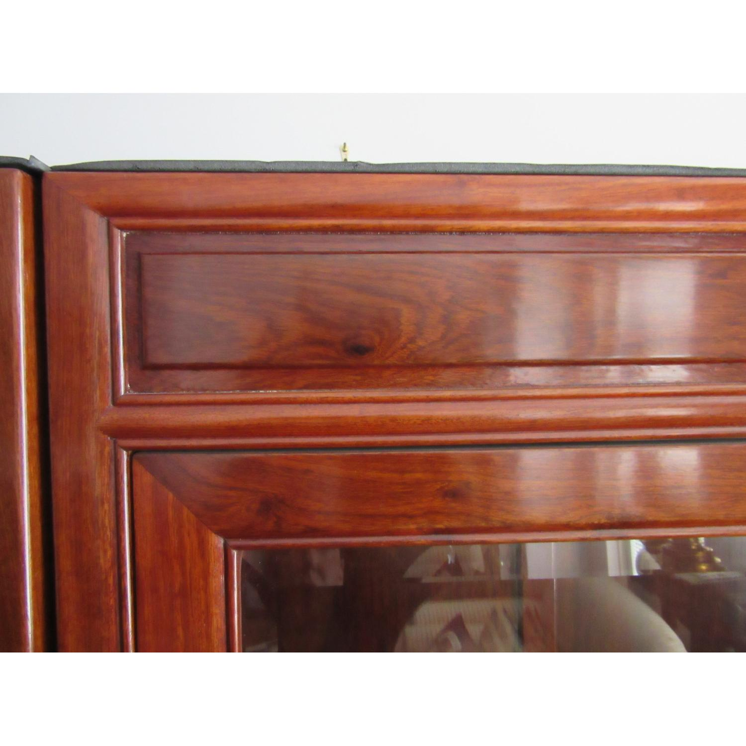 Rosewood Elm Glass Door Cabinets - 2 Available - image-8