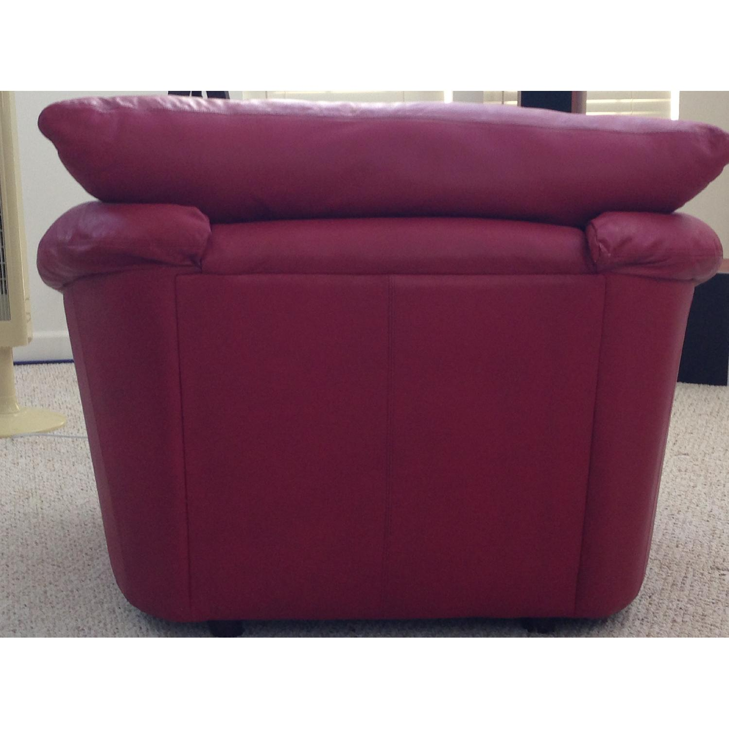 Century Leather Red Chair - image-2