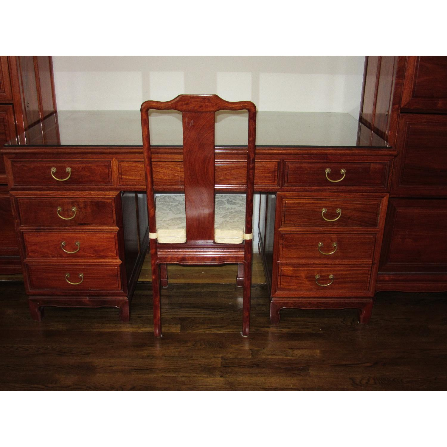 Hand Crafted Desk w/ Desk Chair - image-1