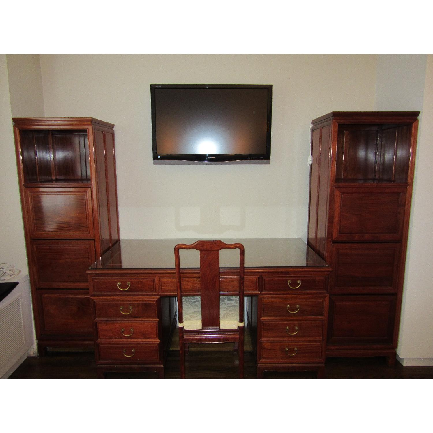 Hand Crafted Desk w/ Desk Chair - image-2