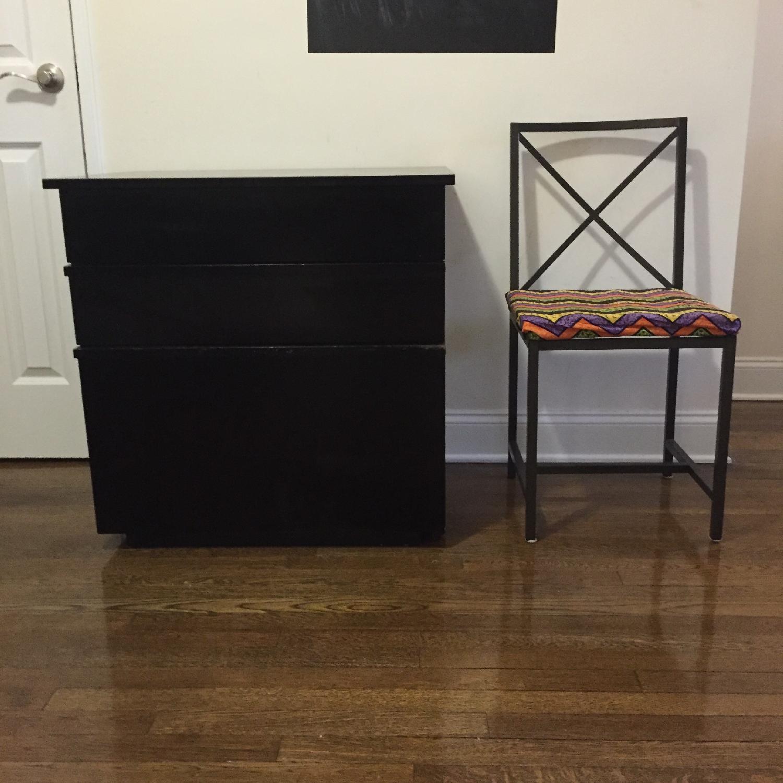 Crate & Barrel Convertible Compact Desk & File Cabinet - image-1