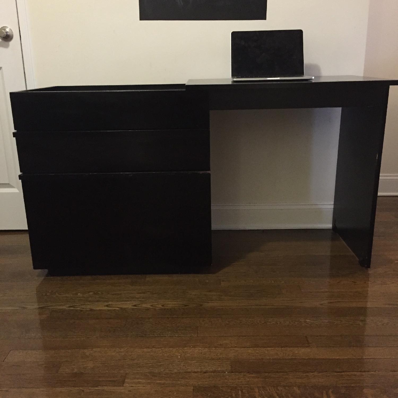 Crate & Barrel Convertible Compact Desk & File Cabinet - image-2