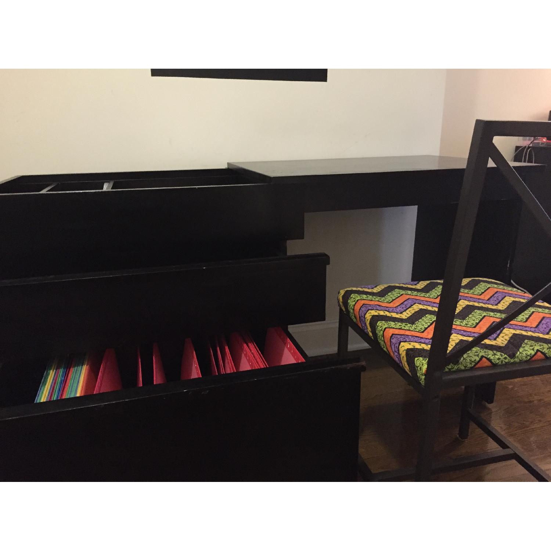 Crate & Barrel Convertible Compact Desk & File Cabinet - image-6