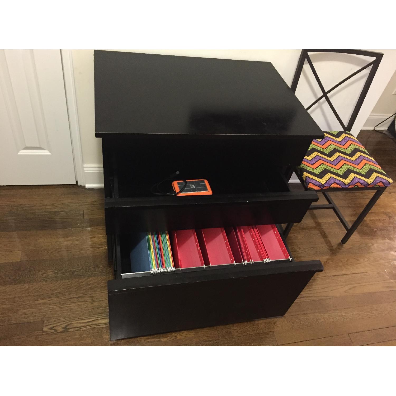 Crate & Barrel Convertible Compact Desk & File Cabinet - image-7