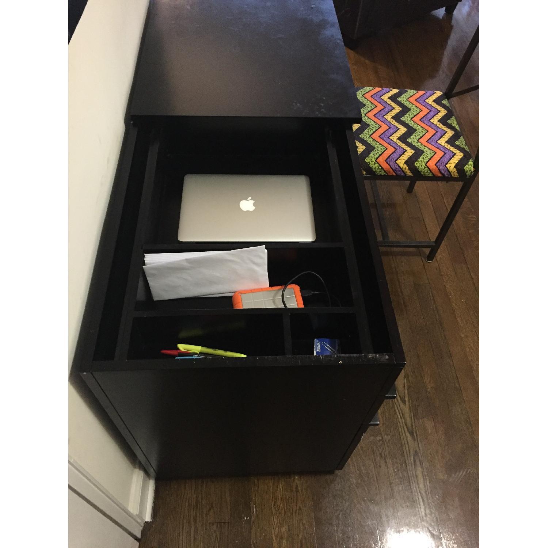 Crate & Barrel Convertible Compact Desk & File Cabinet - image-8
