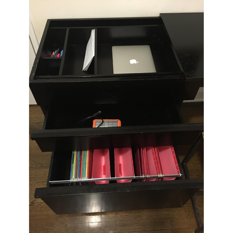 Crate & Barrel Convertible Compact Desk & File Cabinet - image-9