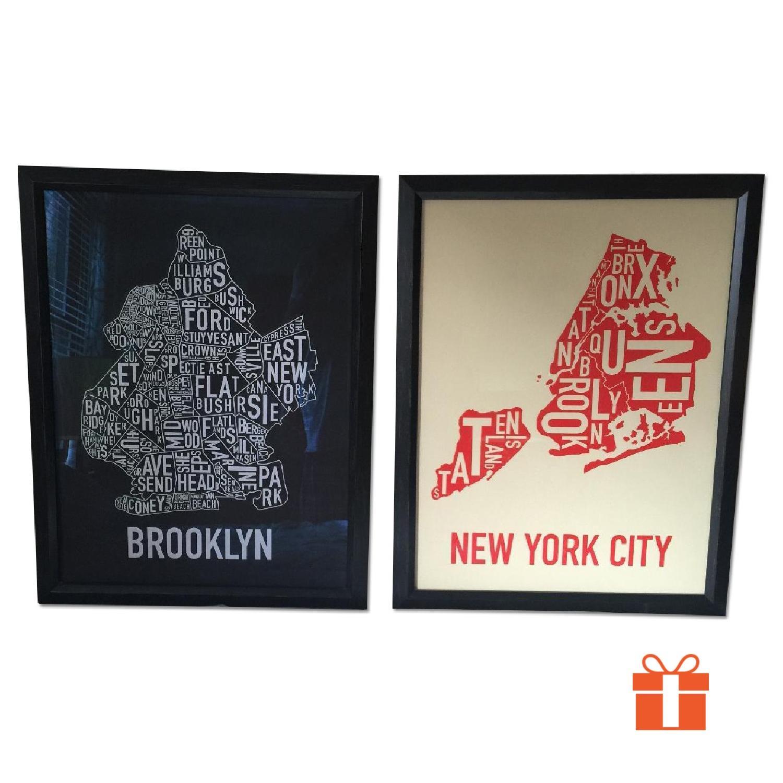 Brooklyn in Type - Pair - image-0