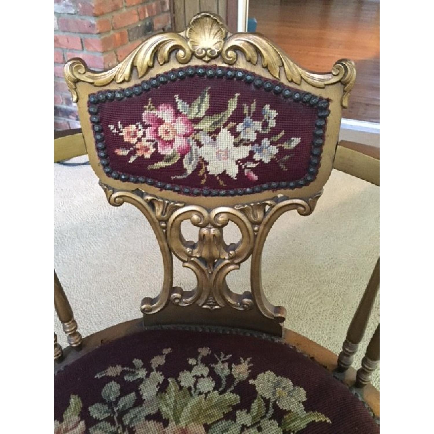 Antique French Provincial Giltwood Chair - image-2