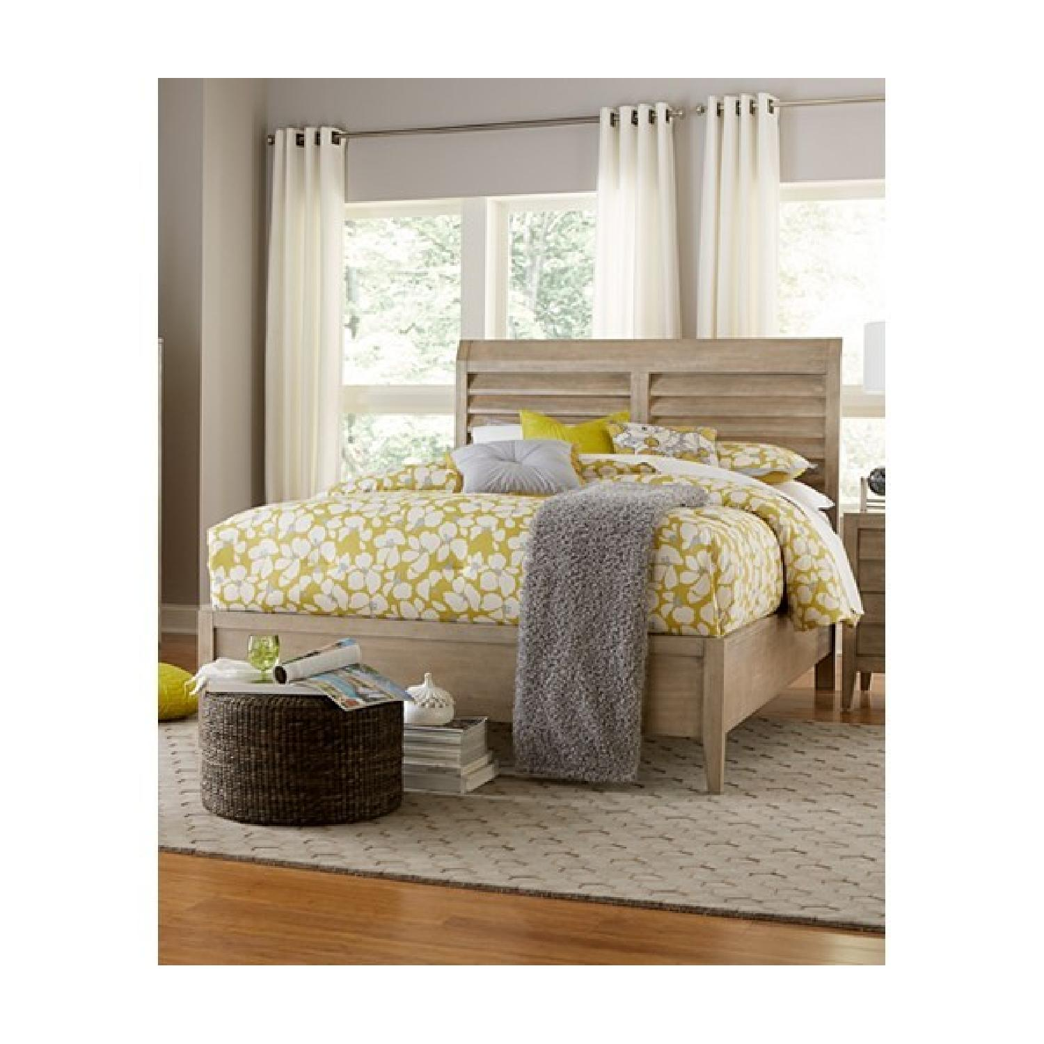Macy's Acacia HardWood Natural Style Queen Bed Frame - image-3