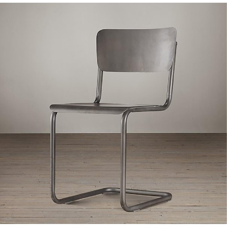 Restoration Hardware Metal Schoolhouse Side Chairs - Set of 4 - image-5