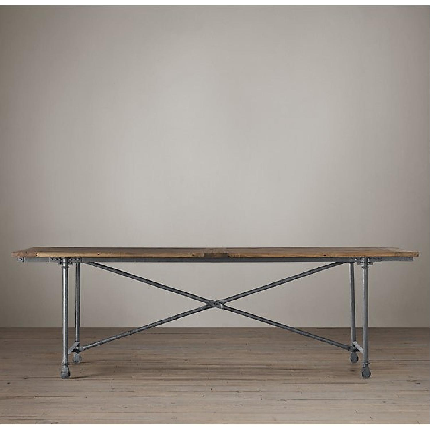 Restoration Hardware Flatiron Rectangular Dining Table - image-1