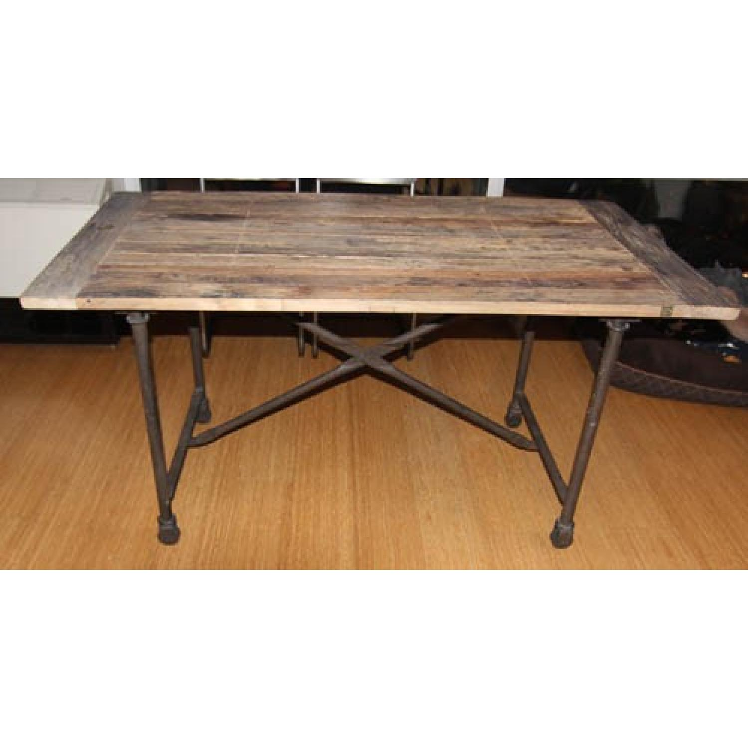 Restoration Hardware Flatiron Rectangular Dining Table - image-2