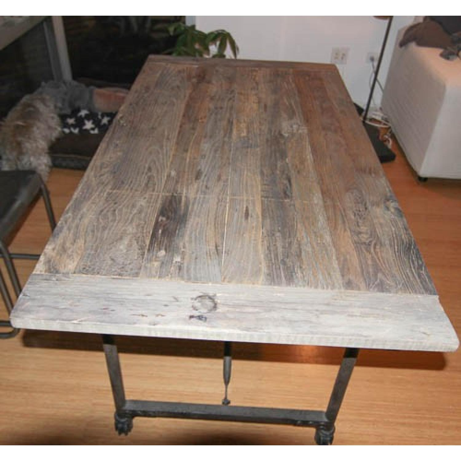 Restoration Hardware Flatiron Rectangular Dining Table - image-4