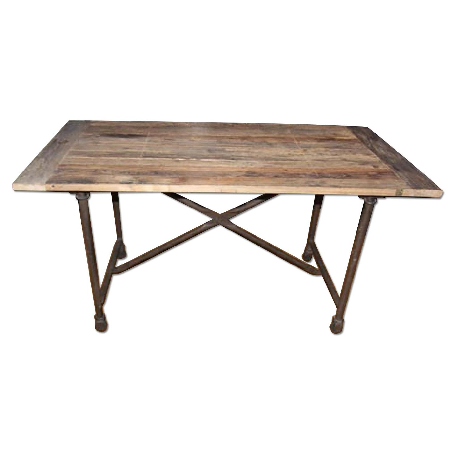 Restoration Hardware Flatiron Rectangular Dining Table - image-0