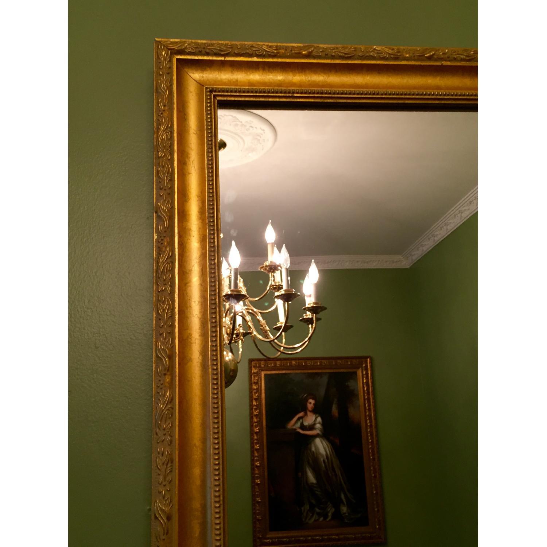 Wood Gold Leaf Frame Mirror - image-1