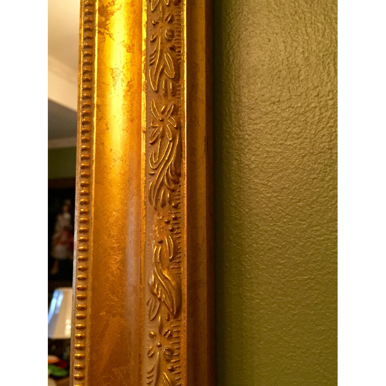 Wood Gold Leaf Frame Mirror - image-2